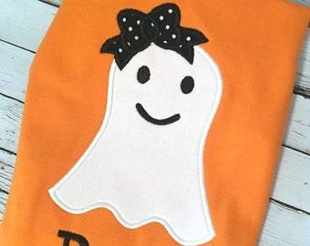 Ghost Applique - Girl Ghost Applique- Halloween Applique - Halloween Embroidery - Applique Design - Embroidery Design