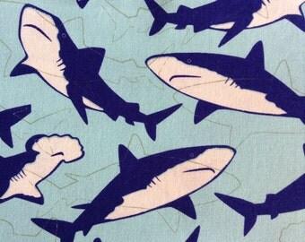 One Half Yard of Fabric - Sharks