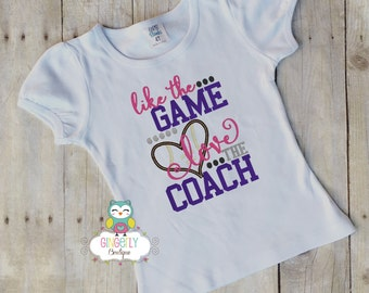 Like the Game love the coach Shirt or Bodysuit, Girl Football Shirt, Girl Football Fan, Football Coach's Daughter, football