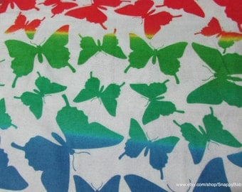 Flannel Fabric - Wild Butterfly - 1 yard - 100 Percent Cotton Flannel