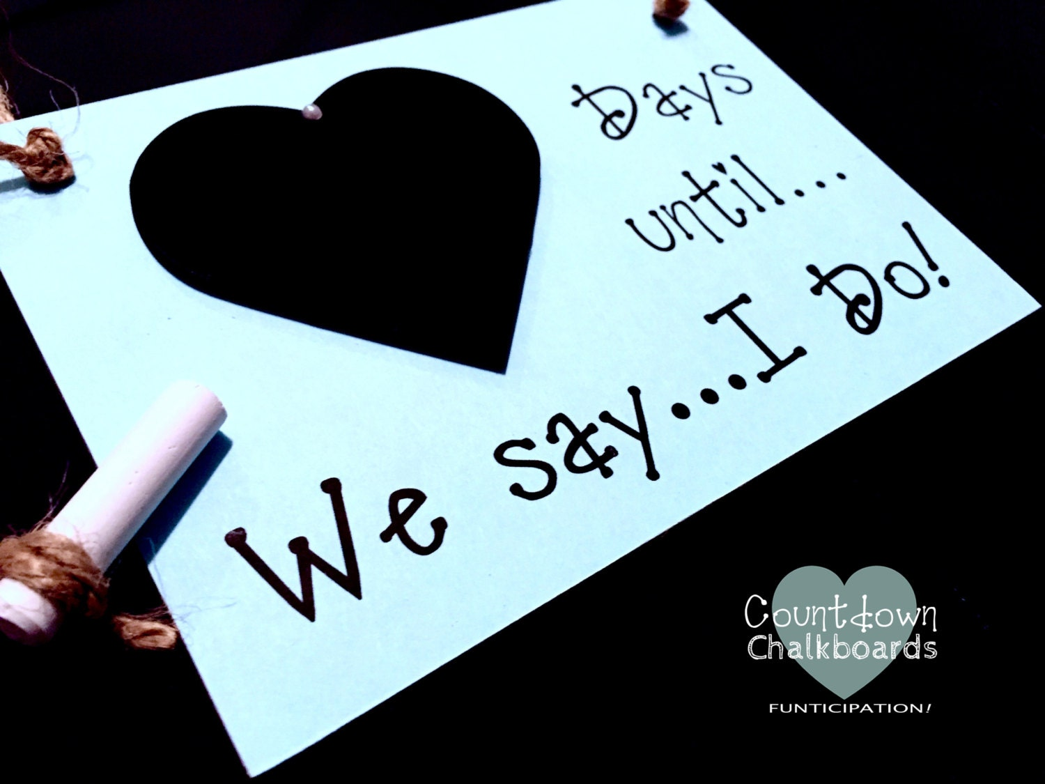 Wedding Gift For Fiance: Engagement Gift Idea. Fiancé Gift Wedding Countdown