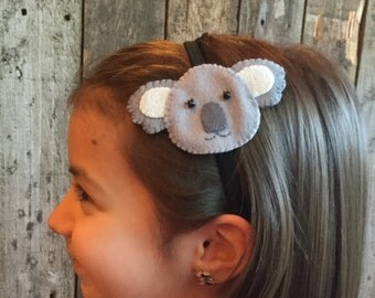 Koala Headband - elastic band (from 100% recycled plastic bottle) -ocean blue