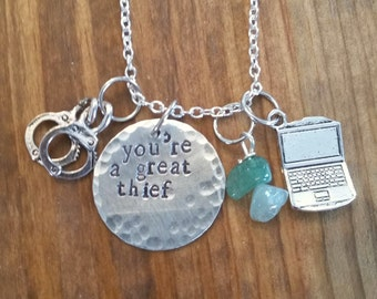 The 100-Minty hand stamped necklace-Monty Green and Nathan Miller