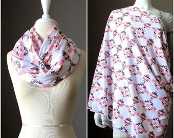 Breastfeeding Cover, Nursing Scarf, Nursing Cover, Nursing Cover Scarf, Nursing Infinity Scarf, Infinity Scarf with tribal pattern