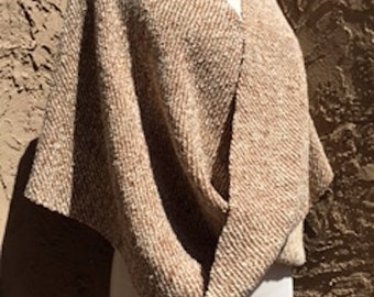Honey Gold Handwoven Hemp/Wool Poncho