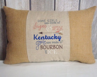 Bourbon Pillow. Kentucky Pillow. Arrow Pillow. Quote Pillow. Pillow Cover