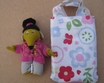 Upcycled Shansi Womble Party Bag