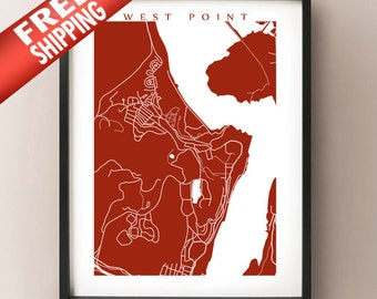 West Point Map Print - New York Poster