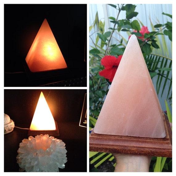 Salt Lamps Quality : Pyramid Himalayan Salt Lamp Top Quality by CrystalHealing4Women