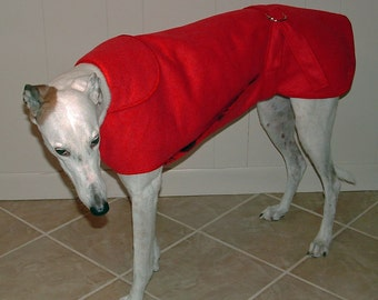12W Medium Red Greyhound Winter Coat.  1 of each size available.  Free Shipping!
