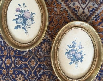 Antique Floral Wall Hangings