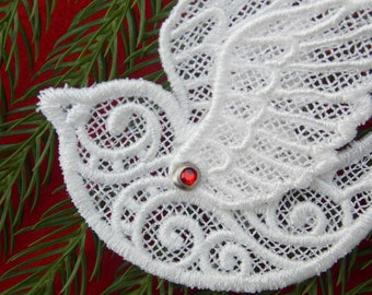 Ornaments ~ Christmas ~ Easter ~ Holiday Amazing White Lace Birds