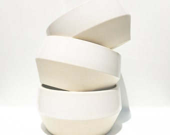 Bowl - Functional Dining Collection, Ceramic Bowl, White Bowl, Modern Dish, by Nicole Novena