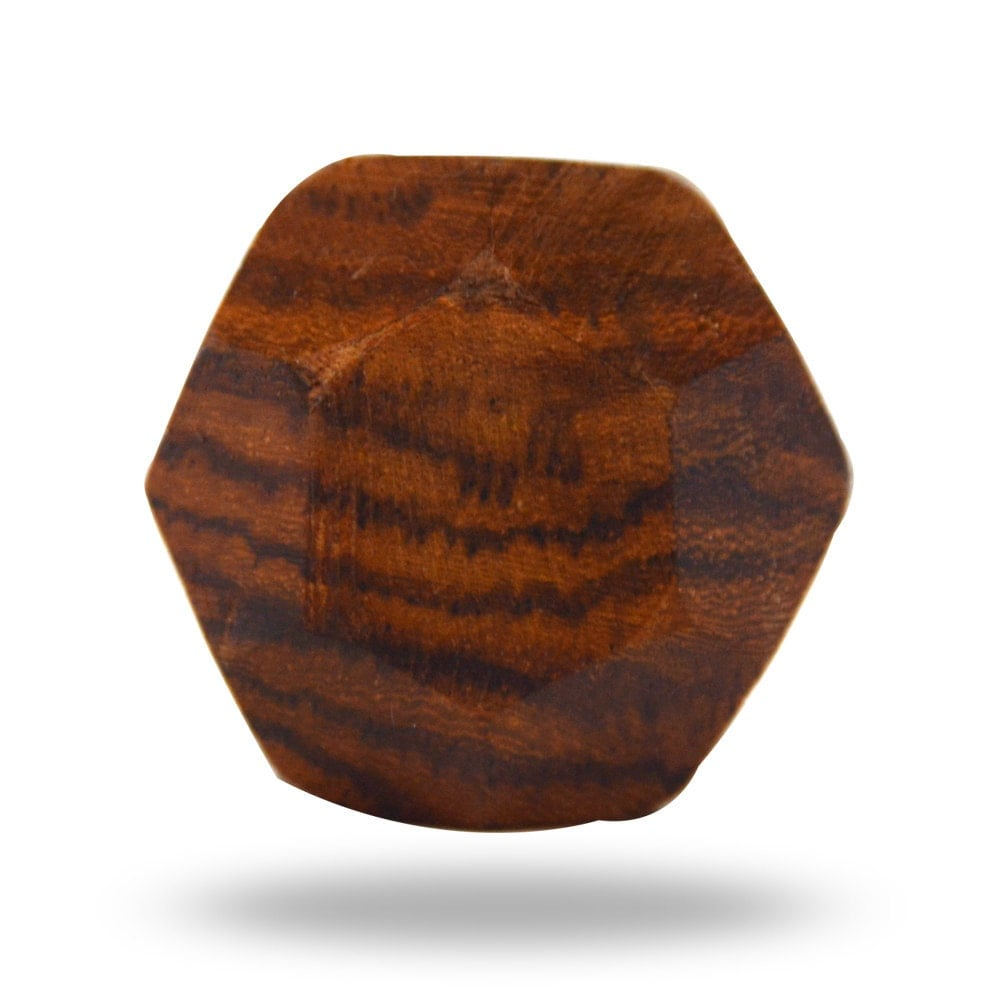 Wooden Faceted Decorative Door Knob Natural Looking Furniture