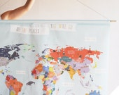 Giant Canvas wall banner - World Map