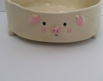 Pig Pet food bowl