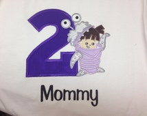 Monsters Inc. Boo Personanlized Birthday Shirt