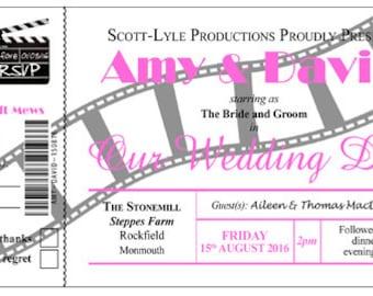 Cinema Ticket Invitation