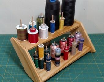 30 Dowel, 2 Shelf Thread Rack