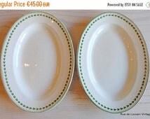 Half Price Sale Set of two (2) serving platters by Boch Frères Keramis, Laurier classic decoration serving platter