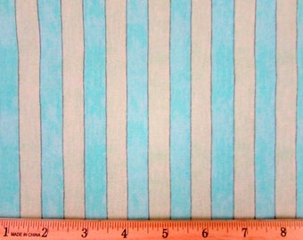 Susan Winget Big Top Stripe Yellow/Mint Green Fabric By the Yard