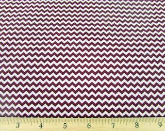Mini Chevron Burgundy Fabric