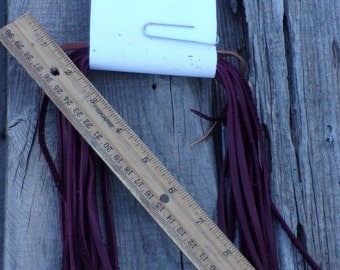 Burgundy leather lace , Leather Lace , Soft leather lace , Craft supplies , Leather crafting