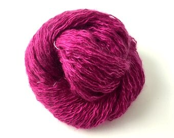 Hand-dyed SILK MOHAIR in Fuchsia