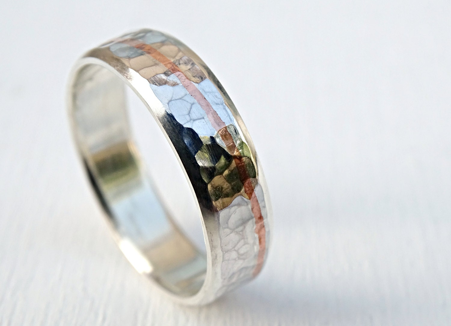 mens personalized ring mens wedding band silver rustic mens. Black Bedroom Furniture Sets. Home Design Ideas