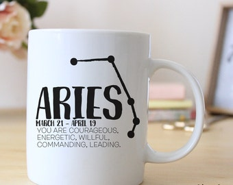 Aries Zodiac Horoscope 15 oz Coffee Mug