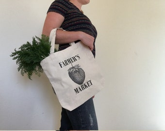Canvas Market Tote Bag