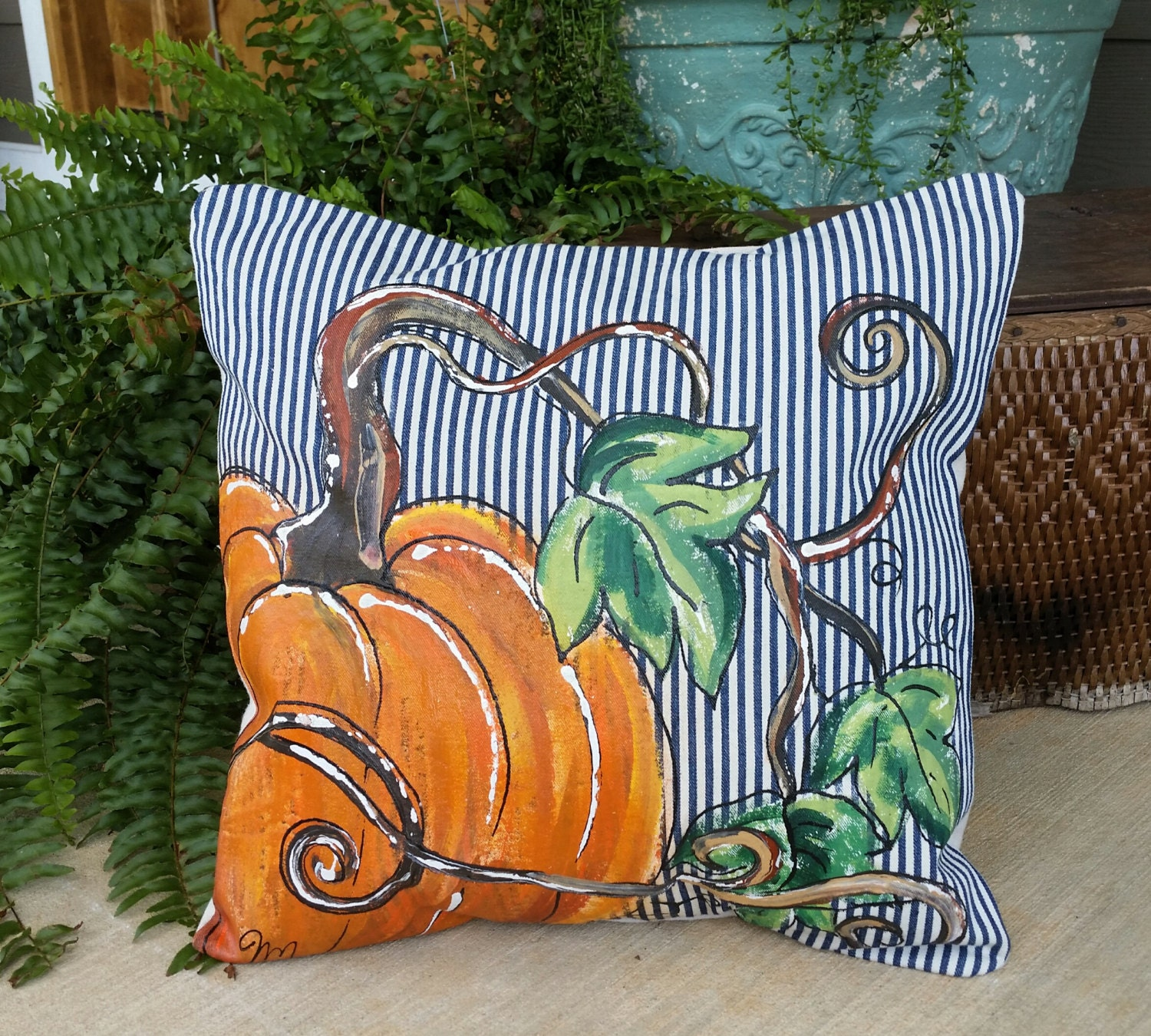 New Pillow Cover Fall Pumpkins Limited by SippingIcedTea ...