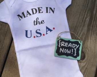 3 Month onesie -> { READY to ship NOW } - Made In The U.S.A.