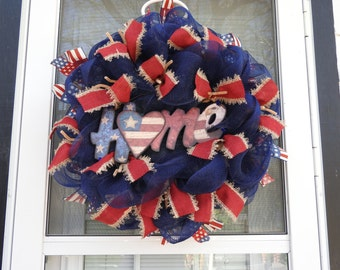 USA Home Deco Mesh Wreath