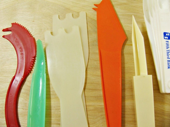 12 Vintage Plastic Kitchen Utensils Tupperware Utensils