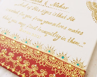 Wedding canvas, special occasion canvas, marriage canvas, 11 by 14 inches, made in 5 days.