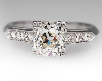 Heirloom 1.3 Carat Old Mine Cut Diamond Wedding Ring WM10536