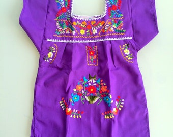 mexican embroidered dress- infant through size 10