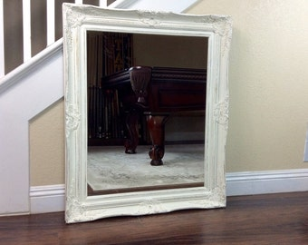 "Mirror, Ornate Mirror, 37"" by 47"", Wall Mirror, Comes In Different Colors, Cottage Chic, Baroque Frame, Vanity Mirror"