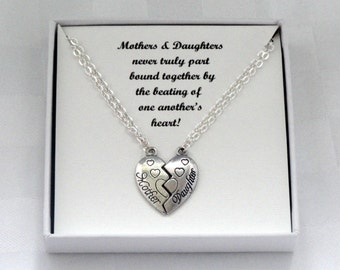Mother daughter necklace Gift set, Mother daughter gift, Mom daughter jewellery, Gift for Mom, Gift for daughter