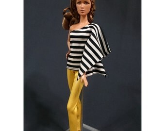 Dolls tops + pants for Muse barbie, Barbie doll- No.243