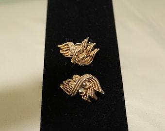 Goldtone Lisner Clip On Earrings