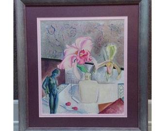 "Richard Crisler ""Erotic Still Life"" original Painting c.1920s"