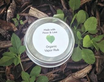 Organic Vapor Rub
