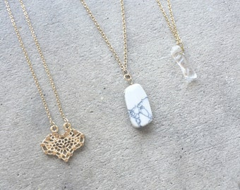 Stone Charm Necklaces