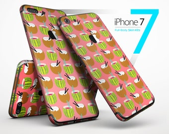 Tropical Coconut Twist v8 - Skin Kit for the iPhone 7 or 7 Plus, 6 or 6s Plus, 5/5s/SE, 5c & More