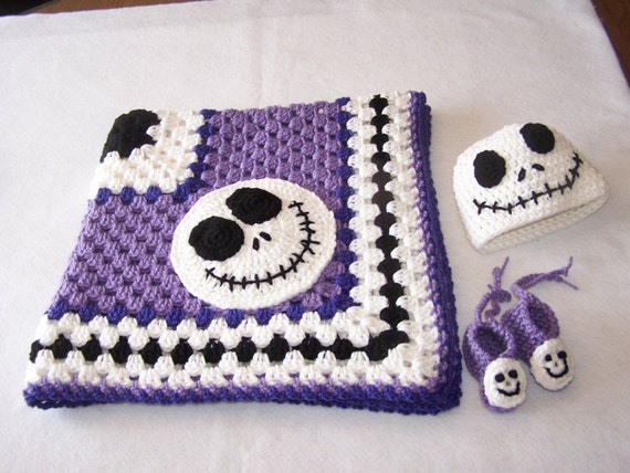 Hand Crocheted Jack Skellington Nightmare Before Christmas