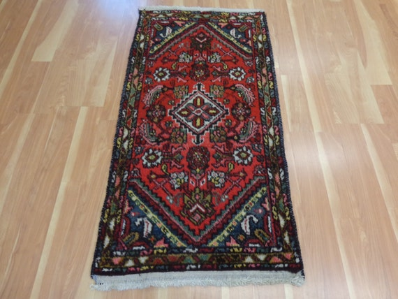 Persian rug red rug small hamedan rug by jessiesorientalrugs for A treasury of persian cuisine
