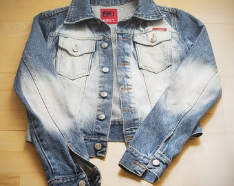 Vintage denim Only jacket with bleached back and sleeves