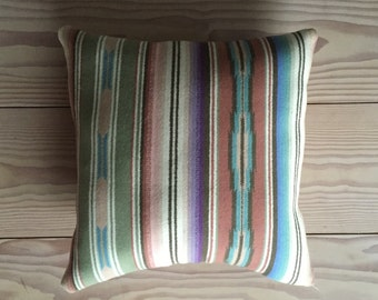 Modern Wool Pillow, Serape Design, Pendleton Blanket